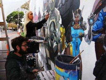 Супер! Художники украсили улицы Мельбурна и Сиднея героями Overwatch