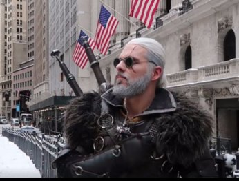 Необычный косплей Геральта: Белый Волк сУолл-Стрит