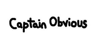Captain Obvious. Видео #1