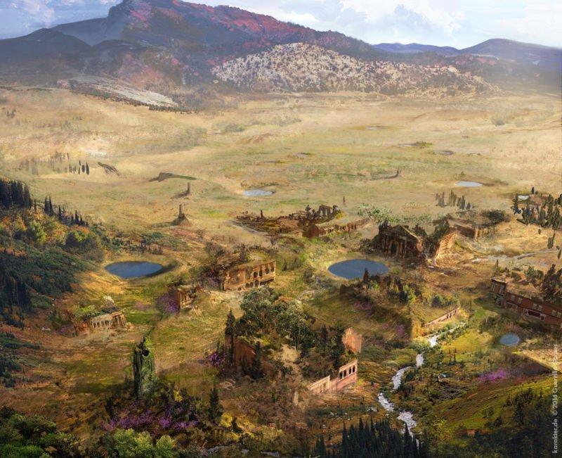 Прекрасные концепты Horizon: Zero Dawn отхудожников «Игры престолов» - Изображение 12