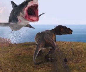 Финальный трейлер «Шаркнадо 6»: ковбои, рыцари итираннозавр пали жертвами летающих акул