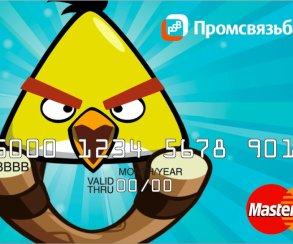 Angry Birds стали банковскими картами