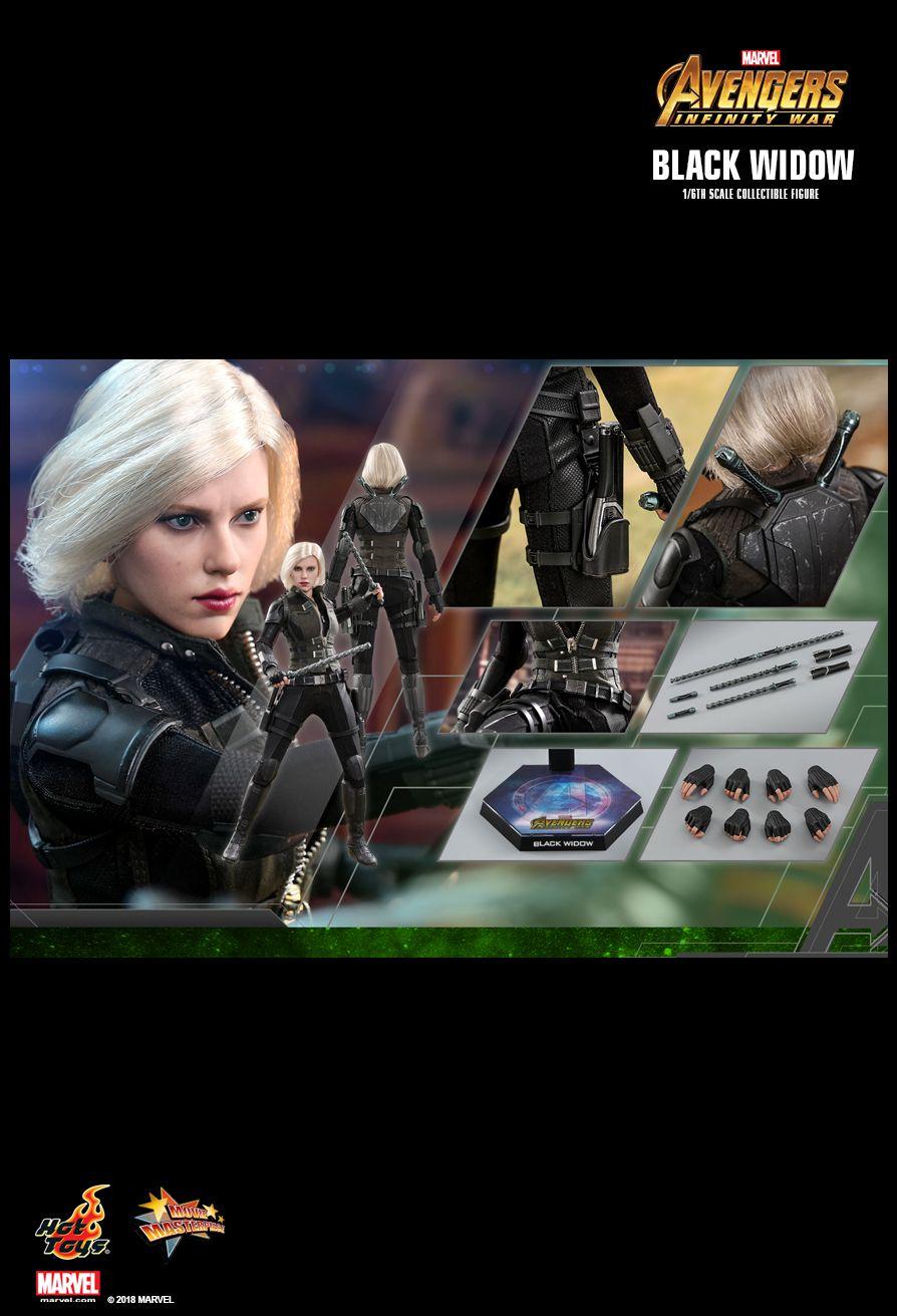 Фигурка Черной вдовы из «Войны Бесконечности» от Hot Toys. Ее можно расчесывать как Барби!. - Изображение 2