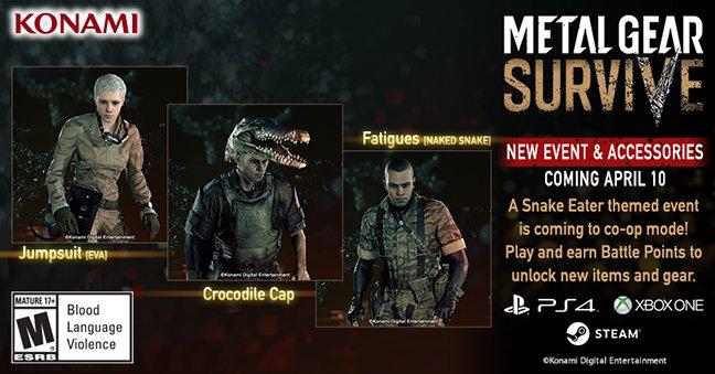 В Metal Gear Survive пройдет ивент, посвященный Snake Eater. Можно будет надеть крокодилью шляпу!. - Изображение 1