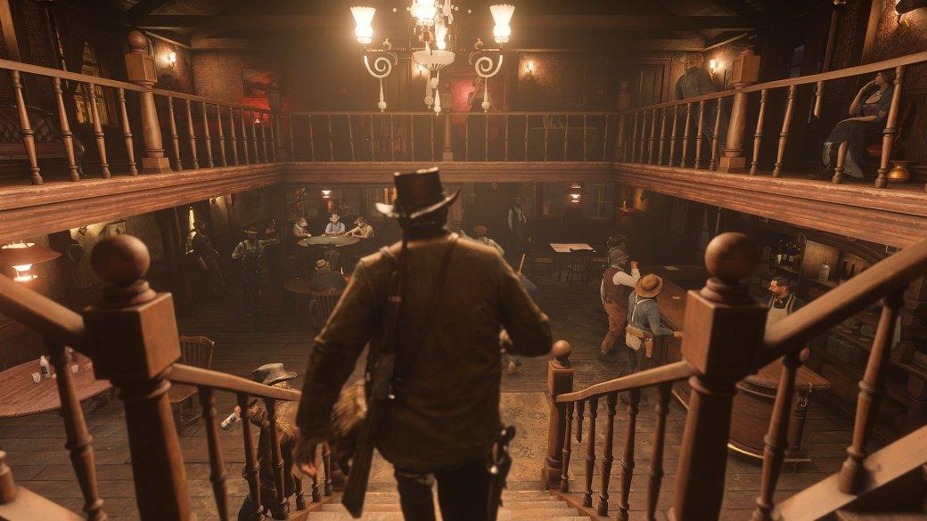 Что показали во втором геймплее Red Dead Redemption 2? Перестрелки, ограбления и попойка в баре! | Канобу - Изображение 4673