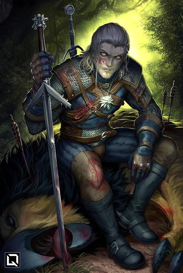 Галерея. Крутейший фанарт по«Ведьмаку», откоторого сразуже хочется перепройти трилогию игр | Канобу - Изображение 6276