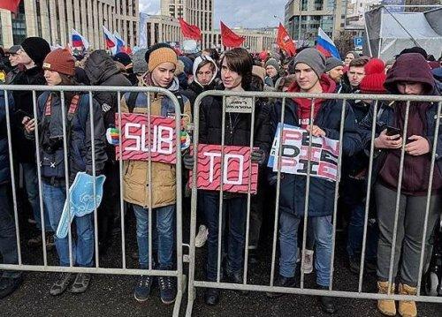 Московский митинг засвободный Интернет поддержал PewDiePie вборьбе сT-Series