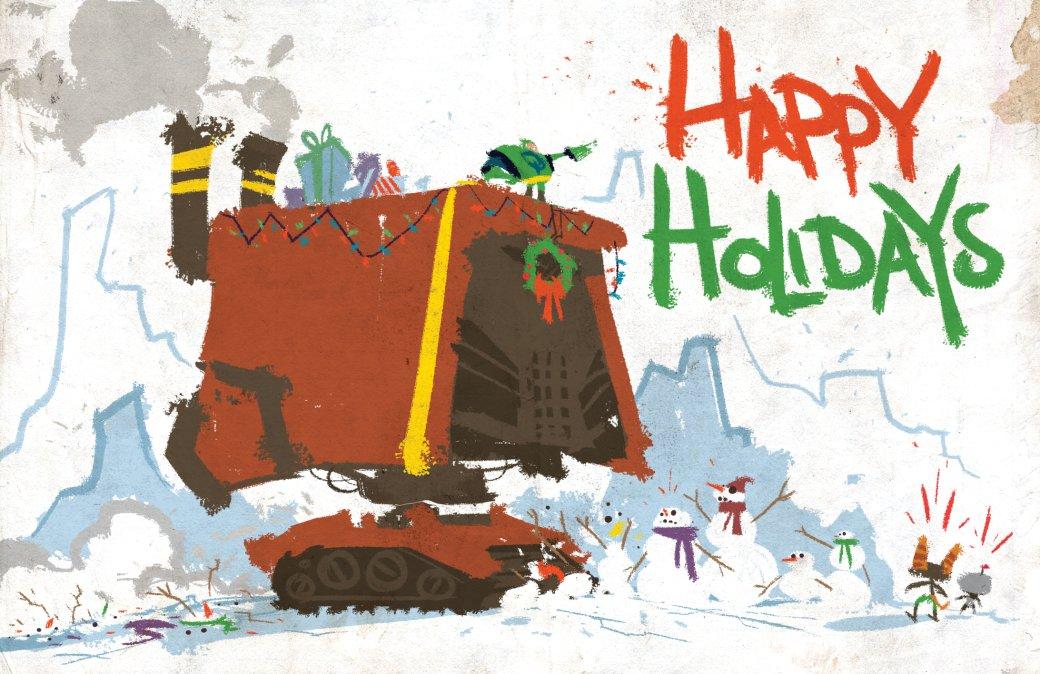 Издатели иразработчики поздравляют игроков сНовым годом иРождеством. Подборка открыток | Канобу - Изображение 6931