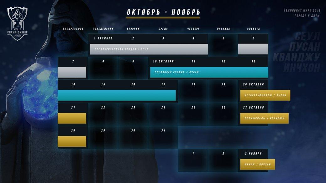 Чемпионат мира 2018 по League of Legends: дата проведения ЧМ-2018 по LoL   Канобу - Изображение 834