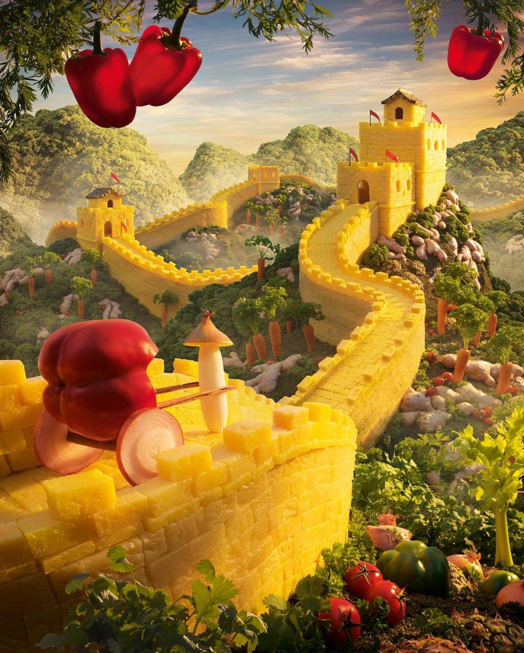 Фотограф создает сказочные пейзажи, используя только еду   Канобу - Изображение 13812