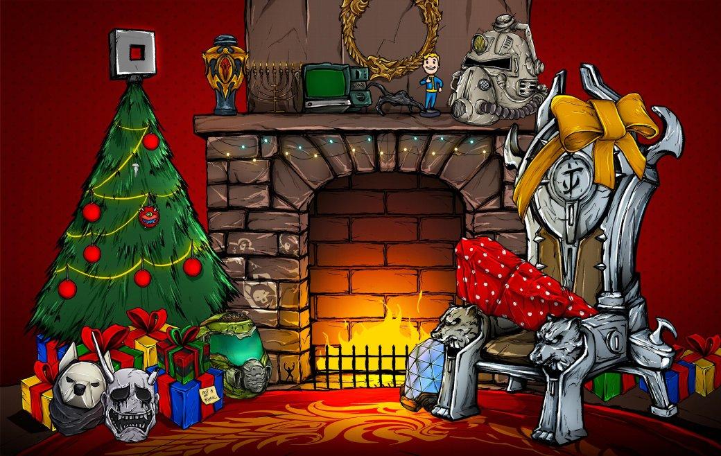 Издатели иразработчики поздравляют игроков сНовым годом иРождеством. Подборка открыток | Канобу - Изображение 6924
