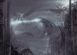 Нановых постерах «Годзиллы 2» можно полюбоваться нагигантских монстров